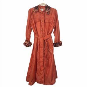 Vintage Aqua Sheen Raincoat